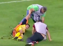 soccer stretcher drop