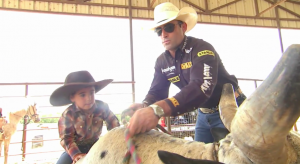 little marchi on bull :  therodeocowboy.com